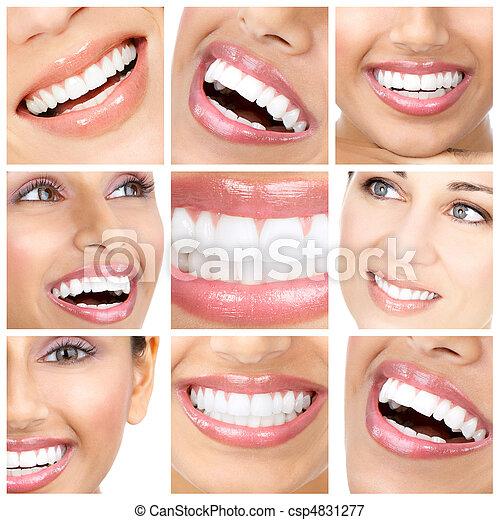 sorrizo, dentes - csp4831277