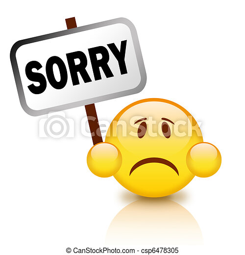 sorry emoticon stock illustrations search clipart drawings rh canstockphoto com sorry i'm late clipart clipart sorry for your loss