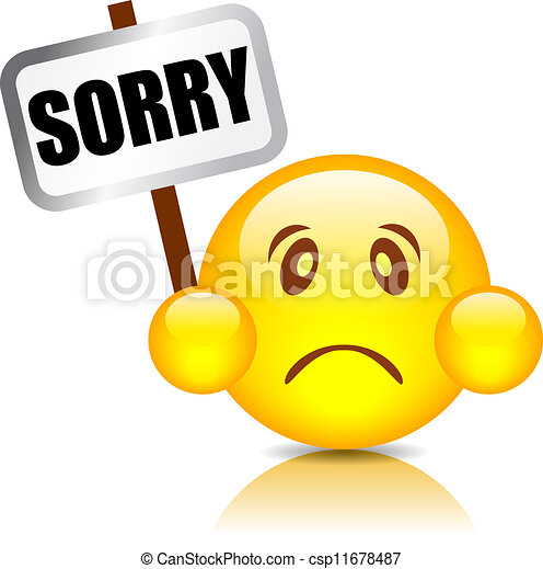 sorry vector smiley sorry smiley vector illustration vector rh canstockphoto com sorry clipart gif clipart sorry for your loss