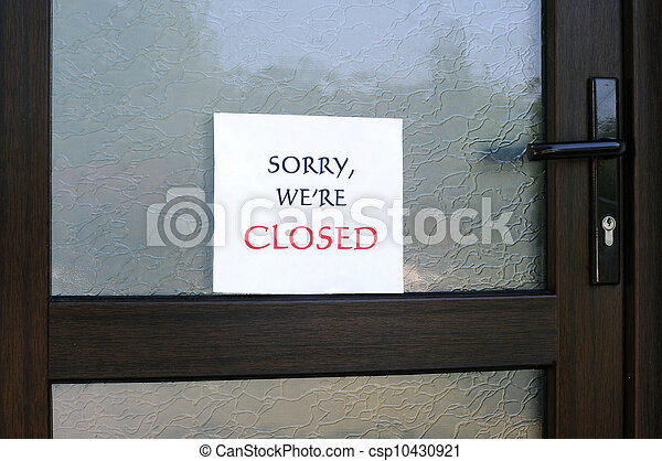 Sorry, We Are Closed - csp10430921