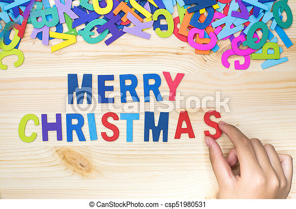 Sort the letters into words, merry christmas, play alphabet.
