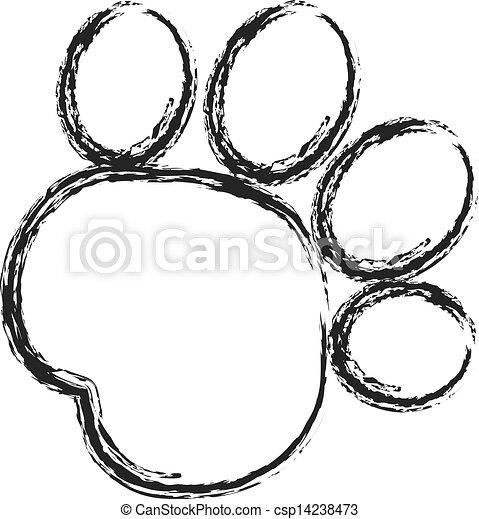 sort, tryk, logo, maling, den agterste roer, pote - csp14238473