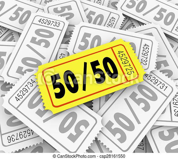 50 y 50 billetes de rifa, ganador del concurso de caridad - csp28161550
