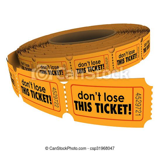 No pierdan esta reivindicación de entradas seguras - csp31968047