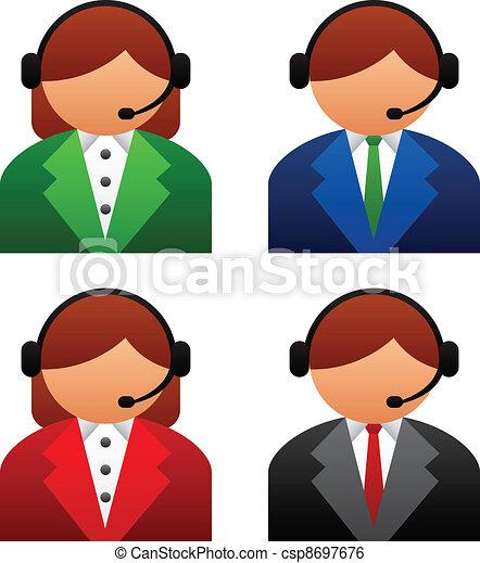 sostegno, vettore, maschio, femmina, icone - csp8697676