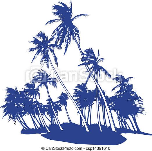souffler, palmiers - csp14391618