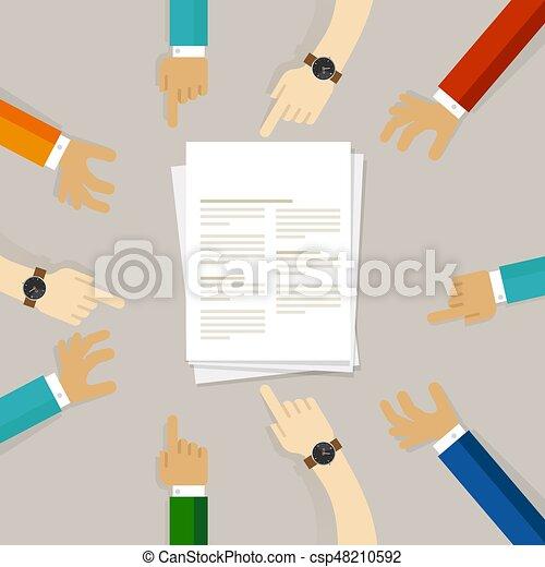 soumission, fonctionnement, science, journal, ensemble, papier - csp48210592