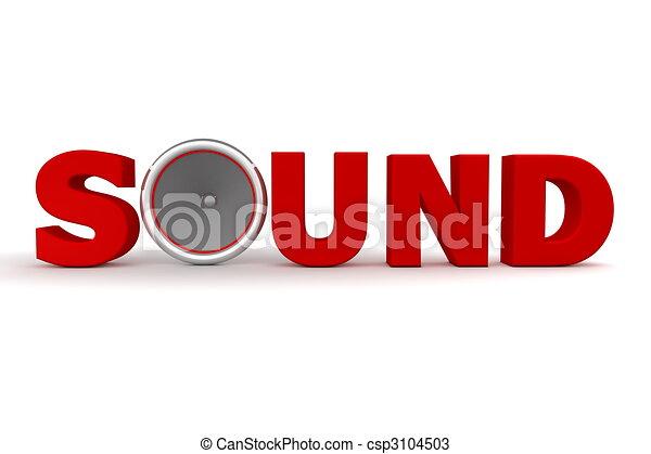 Sound and Speaker - Red - csp3104503