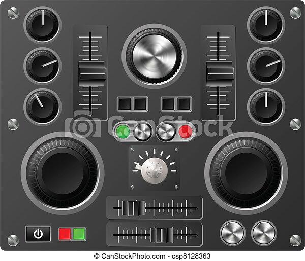 Sound board or studio controls - csp8128363