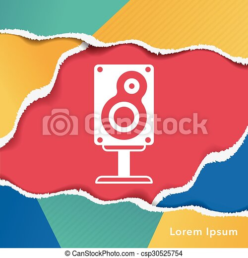 Sound equipment icon - csp30525754