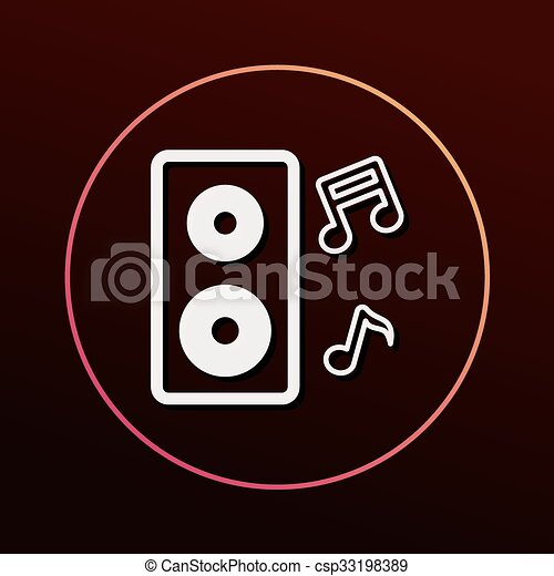 Sound equipment icon - csp33198389