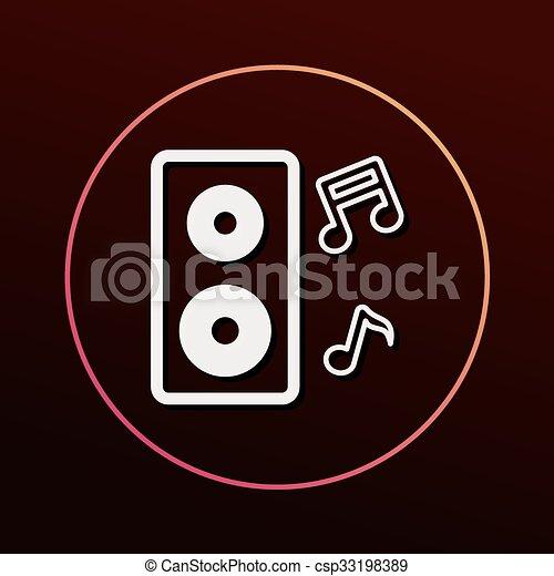 Sound equipment icon - csp33198389