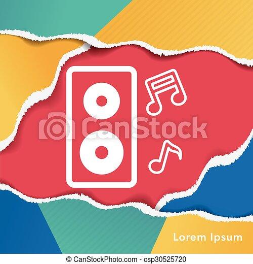 Sound equipment icon - csp30525720