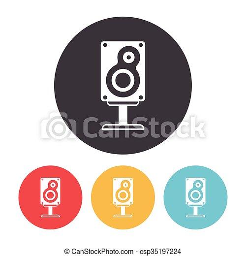 Sound equipment icon - csp35197224