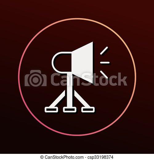 Sound equipment icon - csp33198374