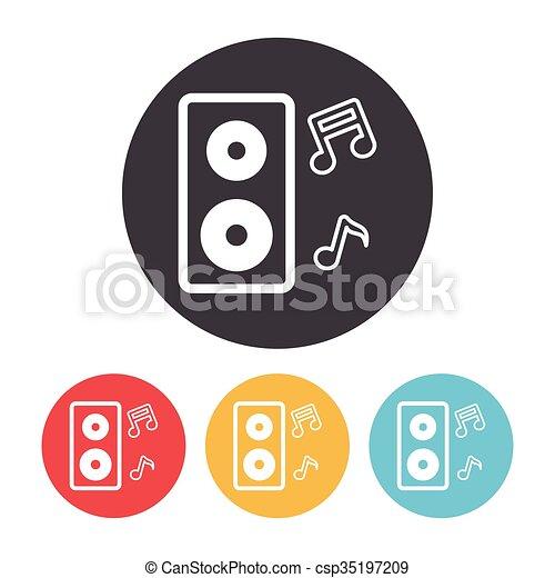 Sound equipment icon - csp35197209
