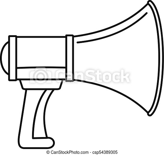 sound of megaphone icon outline style sound of megaphone icon rh canstockphoto com free megaphone vector art cheerleading megaphone vector art free