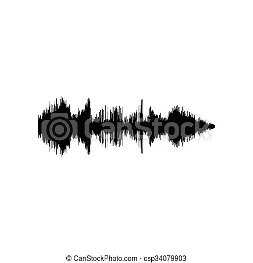 sound or audio wave isolated on white background