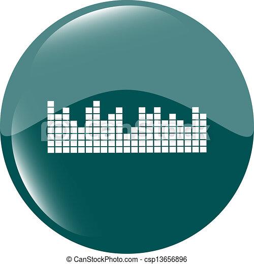 sound round web glossy icon - csp13656896