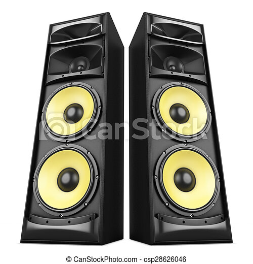 sound system clipart. sound speakers boxes - csp28626046 system clipart