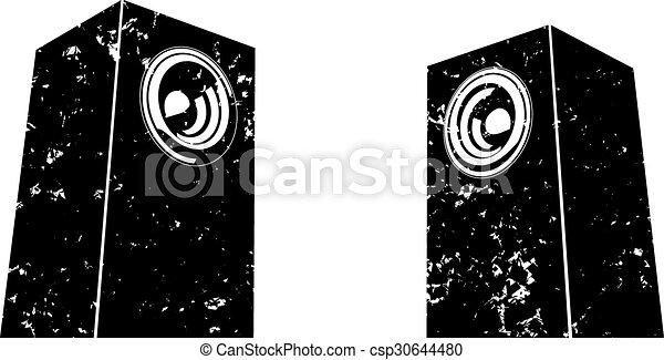 sound-system, orador, grunge - csp30644480