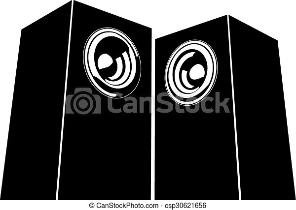 sound system clipart. vector - sound-system speaker illustration sound system clipart c