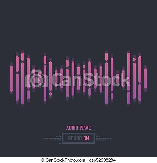 sound wave audio sound wave line illustration gradient music