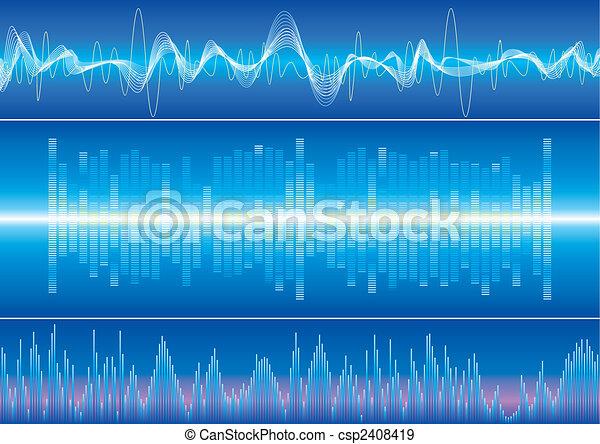 Sound Wave Background - csp2408419