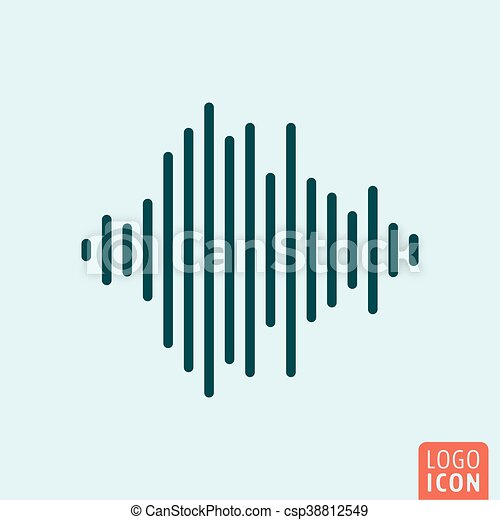 Sound wave icon - csp38812549
