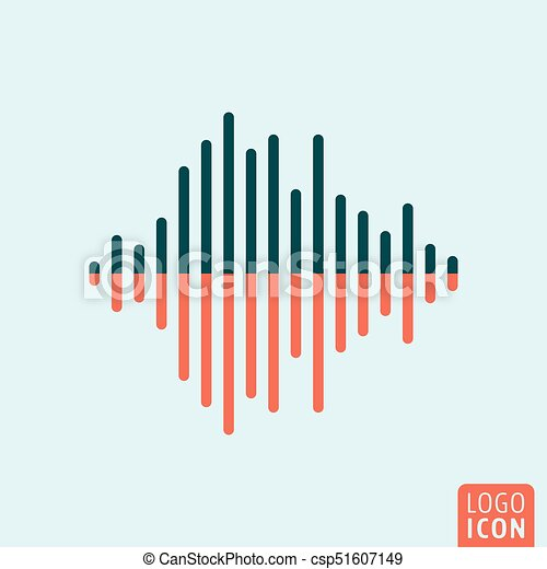 Sound wave icon isolated - csp51607149