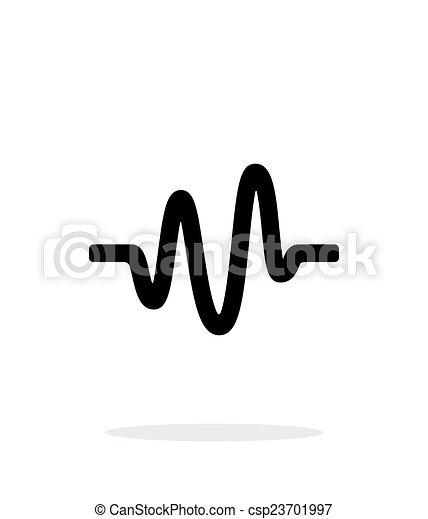 sound wave icon on white background vector illustration rh canstockphoto com