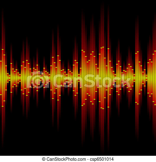 Sound waveform. Seamless vector. - csp6501014
