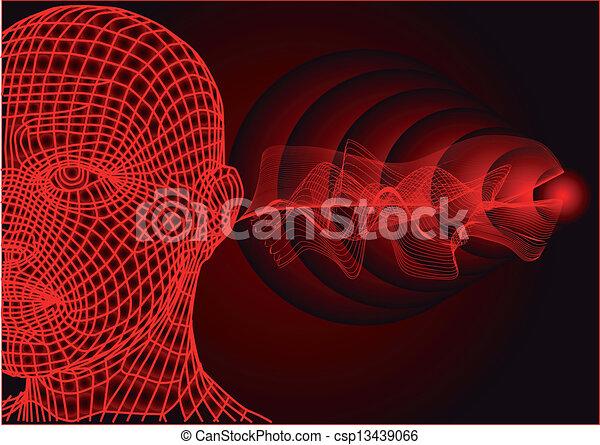 sound waves - csp13439066