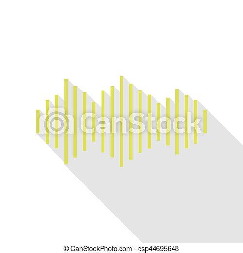 Sound waves icon. Pear icon with flat style shadow path. - csp44695648