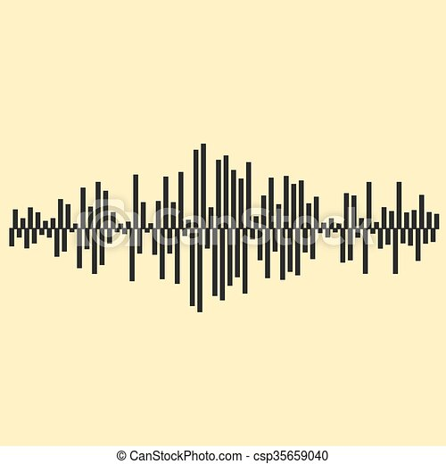 Sound waves illustartion. Music background  EPS 10 vector file included - csp35659040