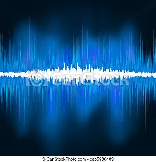 Sound waves oscillating glow light. EPS 8 - csp5986483