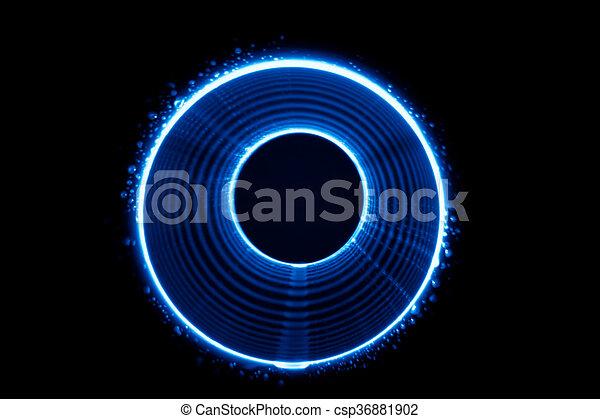 Sound waves tunnel  - csp36881902