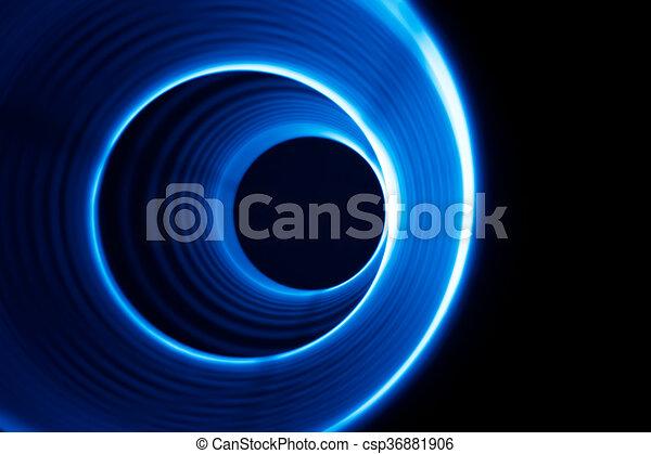 Sound waves tunnel  - csp36881906