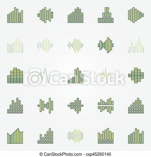 Soundwave colorful icons set - csp45260140