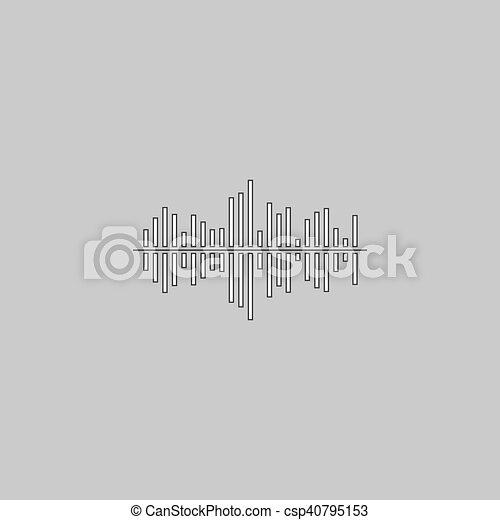soundwave computer symbol - csp40795153