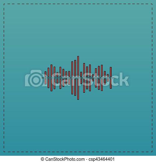 soundwave computer symbol - csp43464401