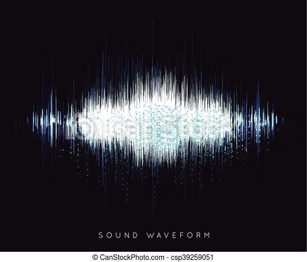 Soundwave waveform vector - csp39259051