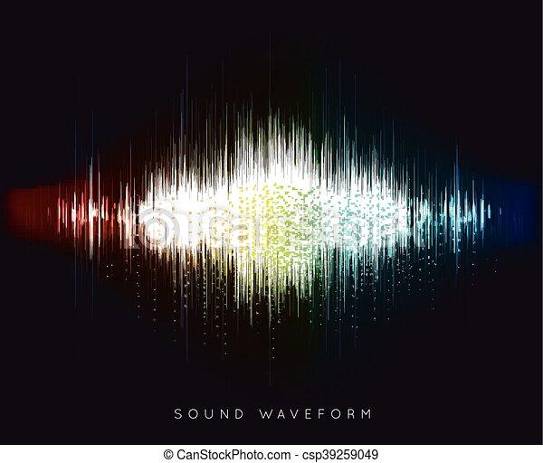 Soundwave waveform vector - csp39259049
