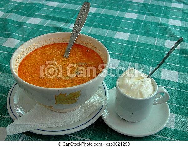 Soup and cream - csp0021290