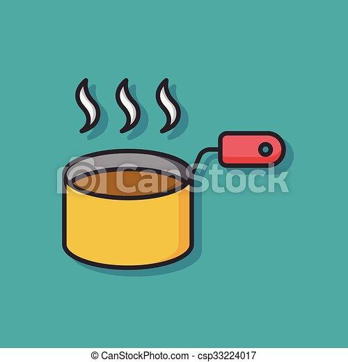 soup pot vector icon - csp33224017