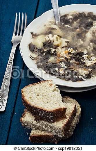 soup with fresh vegetables - csp19812851