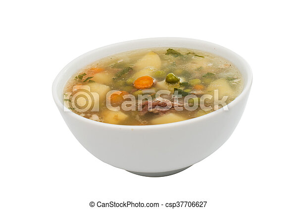 soup with fresh vegetables - csp37706627