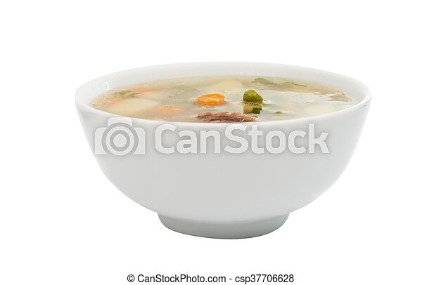 soup with fresh vegetables - csp37706628