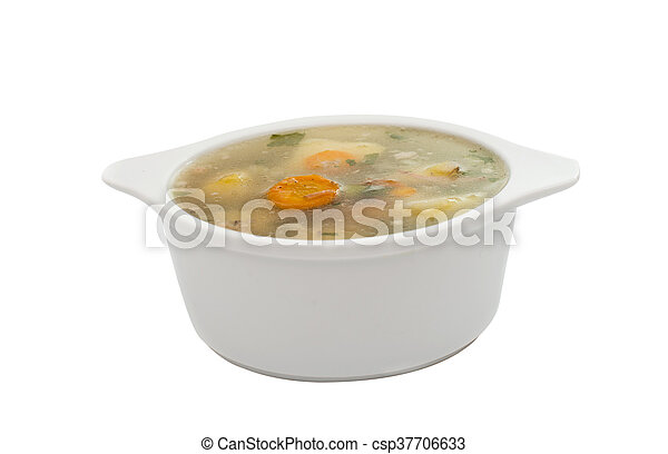 soup with fresh vegetables - csp37706633