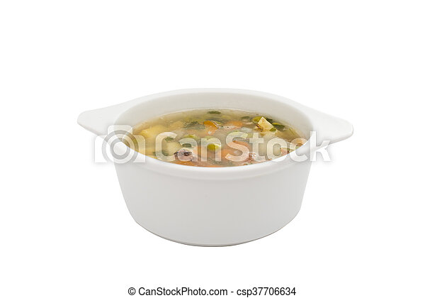soup with fresh vegetables - csp37706634